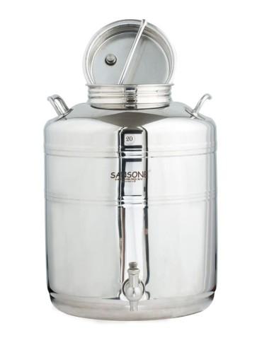 Fut inox 20 litres sansone
