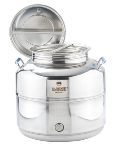 Fut inox 30 litres sansone