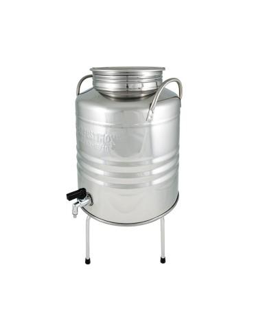 Fût inox veritable 20L avec robinet anti-goutte Superfustinox  (support vendu séparément)